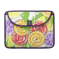 Pretty Floral  Graphic Big Summer Flowers Sleeve For MacBook Pro