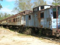 Abandoned train. End of the line. Job well done.