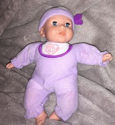 You & Me 8 inch Mini Baby Doll - Purple and White Adorable  | eBay