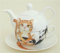 all  teapots | Cats, Dogs, Tigers, Monkeys and Giraffes Tea for One Sets