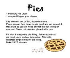 Easy Bake Oven Recipe: Pies