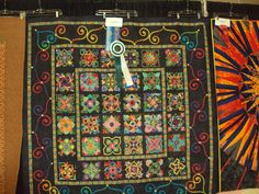 """Fabulous, amazing, and yes, prizewinning """"Affairs of the Heart"""" quilt by Cynthia Sandberg - 24 Blocks"""