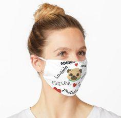'Cute Describing Pug' Mask by Pienkerbelle Pug Mask, Describing Words, Balaclava, Make A Donation, Pug Life, Sleep Mask, Young Children, Snug Fit, Pugs