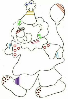 graphisme- art and pre-write activities. suitable for kindergarten or grader Clown Crafts, Circus Crafts, Carnival Crafts, Circus Theme, Circus Party, Adult Coloring, Coloring Pages, Coloring Books, Theme Carnaval