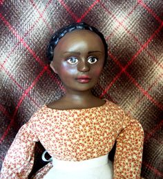 Molly Shaw cloth and clay character doll by Jan Conwell