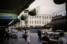 Ballantynes department store under reconstruction. Photograph taken from outside Whitcombe & Tombs, Cashel St. Christchurch New Zealand, Under Construction, The Outsiders, Street View, Explore, Department Store, History, 1960s, Photography