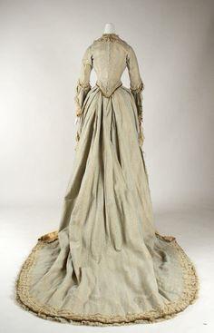 molena | бальные и вечерние платья 1880-1890 гг из коллекции Metropolitan Museum Dress (1880) Back View