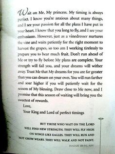 Letter from God. Waiting on The Lord. Isaiah 40