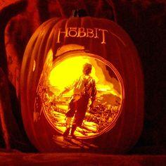 Fantastic Hobbit and LOTR pumpkins for Halloween