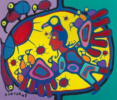 Norval Morrisseau defied expectations for Indigenous art, drawing on Anishinaabe beliefs and aesthetics to inspire an art movement. Discover the significance of his work. Canadian Painters, Aboriginal Artists, Native American Fashion, Indigenous Art, Canada, Abstract Photos, Native Art, Online Art, Art Lessons