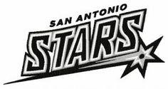 San Antonio Stars logo machine embroidery design. Machine embroidery design. www.embroideres.com