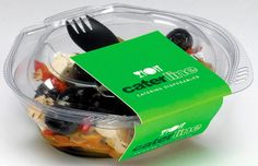 Salad Containers, Salad Bowls from Caterline Food Packaging Salad Packaging, Food Packaging, Brand Packaging, Packaging Design, Smoothie Bar, Food Containers, Cafe Design, Salad Bowls, Cute Food