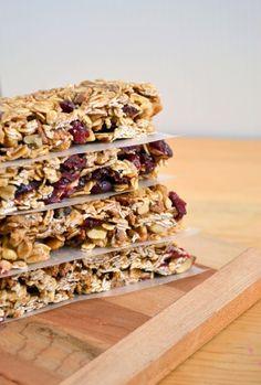 Chewy No Bake Cinnamon Cranberry Granola Bars(Dairy Free, Nut Free, Gluten Free)