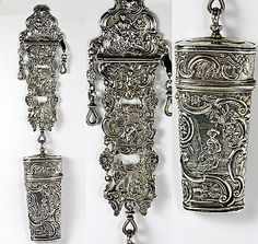 Antique Dutch Sterling Silver Chatelaine.