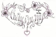 Always in my Heart Tattoo Design by Denise A. Wells