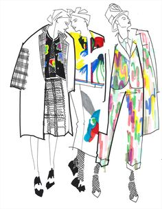Thom Browne S/S15 Illustration by Julie Houts