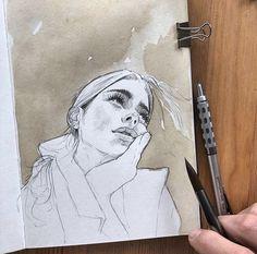 Pin by nika on drawings in 2019 watercolor art, art sketchbook, art sketche Art Inspo, Kunst Inspo, Drawing Sketches, Art Sketches, Art Drawings, Drawing Ideas, Sketching, Doodle Sketch, Drawing Art