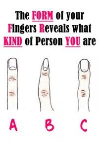 The Form of your Fingers Reveals what KIND of Person YOU are It works 99.99999999% of the time