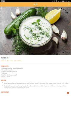 Healthy Mummy, Healthy Eating Recipes, Diet Recipes, Healthy Snacks, 28 By Sam Wood, Greek Yoghurt, Fresh Dill, No Sugar Foods, Tzatziki