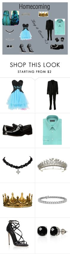 """Homecoming: King and Queen"" by luckyduck99 ❤ liked on Polyvore featuring Dolce&Gabbana, Bruno Magli, Geoffrey Beene, Blue Nile, Belk & Co. and NOVICA"