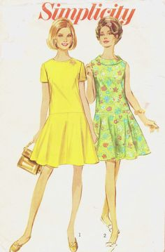 Vintage 60s Simplicity Sewing Pattern 7598 Womens by CloesCloset, $10.00