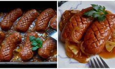 BÁJEČNÉ ŠPEKÁČKY NA PIVĚ Chicken Wings, Sausage, Menu, Treats, Foods, Cooking, Menu Board Design, Sweet Like Candy, Food Food