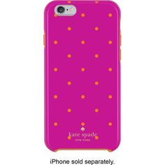 kate spade new york - Hybrid Hard Shell Case for Apple® iPhone® 6 - Pink/Orange - Front Zoom