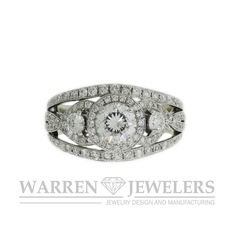 This is a super bright three stone diamond ring that makes you say Wow!, Lots of diamonds, lots of sparkle.