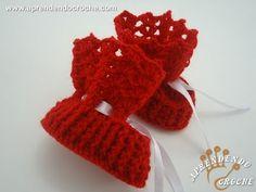 ▶ Sapatinho de Bebê em Croche Botinha - Aprendendo Crochê - YouTube