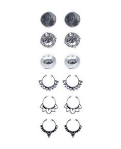 Silver Stud Earrings and Ear Cuff Pack | New Look