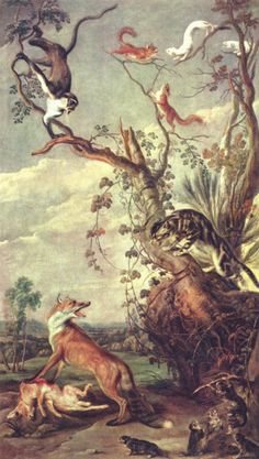 Fox and cat | Frans Snyders