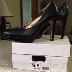 "Black Banana Republic ""Kate"" heels Black banana republic leather heels, with a slight platform. Need to be re-tipped. Banana Republic Shoes Heels"