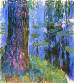 Weeping willow and water-lily pond, Claude Monet.