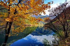 https://flic.kr/p/aDvhKY | Autumn In My Heart | Mirror Lake, Jiuzhaigou Valley Scenic and Historic Interest Area, Nanping County, Sichuan Province, Southwestern China