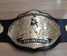 Football Fantasy Football Championship Belt Trophy Prize Fanartikel Spike Black/Silver.