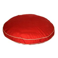Carolina Pet Company Classic Twill Round-A-Bout Pet Bed with Contrast Cording - Small - Red