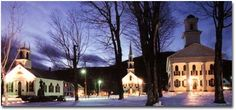 #Newfane, Vermont is a quintessential New England village.  The quaint town center transports you back in time with the large, white buildings.