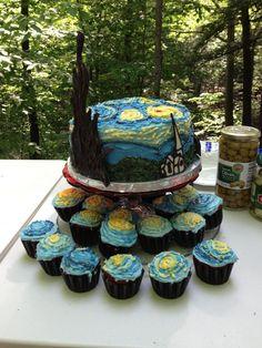 van Gogh Starry starry night cake
