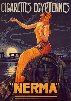 noonesnemesis:    Nerma Cigarette Poster  Gaspar Camps  1924