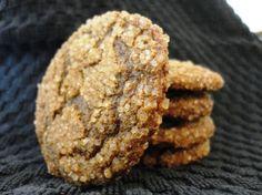 Molasses Ginger Rye & Spelt Cookies