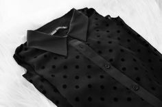 Black shirt with dots