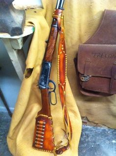 Leather is natural oiled leather and Sling accepts or bigger QuickTach swivels ( not included ). (leather can be different shade depending on the hide). Leather Rifle Sling, Leather Holster, Leather Tooling, Tooled Leather, Sewing Leather, Leather Craft, Custom Leather, Handmade Leather, Lever Action Rifles