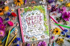 Download a sample page from Create Magic: A Coloring Book by Katie Daisy and share your work with us on Facebook! Spark childlike wonder as you color your way through a journey of wildflowers, butt…
