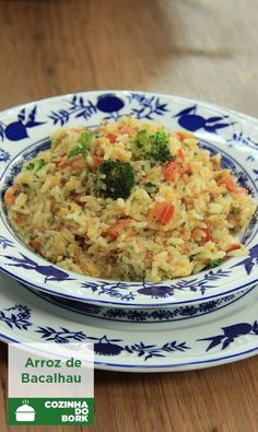 Paella, Portuguese Recipes, Drinking Tea, Fried Rice, Food Inspiration, Carne, Risotto, Food And Drink, Menu