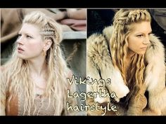 Vikings Inspired Hair and Makeup Tutorial - Lagertha (organic) - YouTube