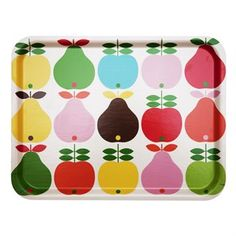 Pear and Apple Tray by Koloni Stockholm Kitchen Tray, Kitchen Containers, Stockholm, Deco Retro, Tea Tray, Apple Pear, Kitchen Themes, Kitchen Ideas, Wishing Well