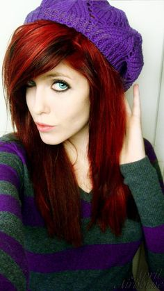 Vibrant cherry red hair