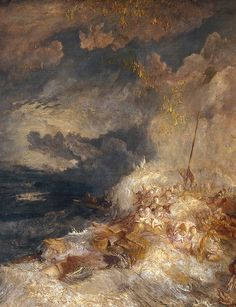 J. M. W. Turner, A Disaster at Sea, ca. 1835