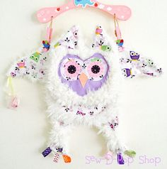 Supper Soft Cuddly Owl Baby Security Tag Blanket Pacifier Lovey
