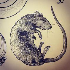 rat tattoo art on Instagram